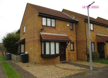 Thumbnail 1 bed end terrace house to rent in Badgers Close, Flitwick, Bedford