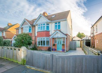Thumbnail 4 bedroom semi-detached house for sale in St Lawrence Avenue, Worthing, West Sussex