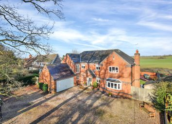 Thumbnail 5 bed detached house for sale in Glen Road, Newton Harcourt, Leicester