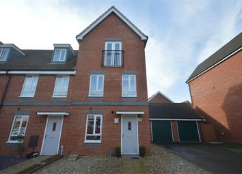 Thumbnail 4 bed end terrace house for sale in Waxwing Way, Queens Hill, Costessey, Norwich, Norfolk
