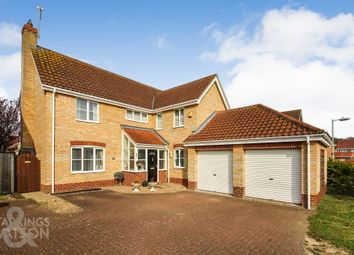 Thumbnail 5 bed detached house for sale in Pepys Avenue, Worlingham, Beccles