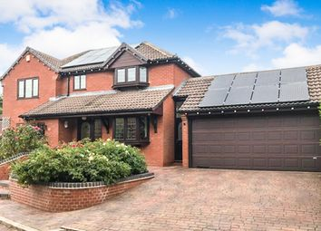 Thumbnail 4 bed detached house for sale in Carisbrooke Gardens, Knighton, Leicester