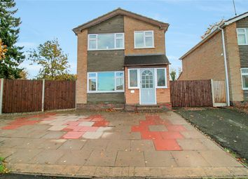 Thumbnail 3 bed detached house for sale in Caernarvon Close, Loughborough, Leicestershire