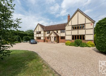 Thumbnail 6 bed detached house for sale in Lamarsh Road, Alphamstone, Sudbury, Suffolk