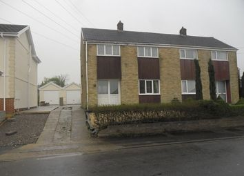 Thumbnail 3 bedroom semi-detached house to rent in Blaencefn, Winch Wen, Swansea