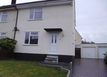Thumbnail 2 bed semi-detached house to rent in Erle Gardens, Plympton, .