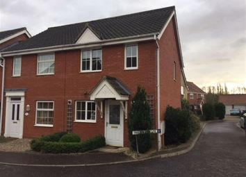 Thumbnail 2 bed semi-detached house to rent in Swallow Tail Close, Norwich