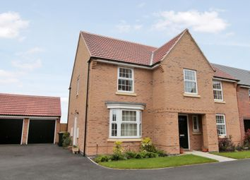 "Thumbnail 4 bed detached house for sale in ""Winstone"" at Wright Close, Whetstone, Leicester"