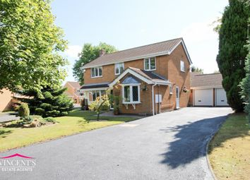 Thumbnail 4 bed detached house for sale in Falcon Close, Leicester Forest East
