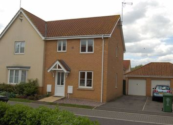 Thumbnail 3 bed semi-detached house to rent in Moughton Court, West Winch, King's Lynn
