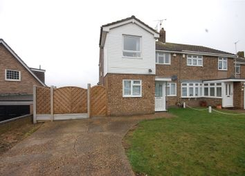 Thumbnail 3 bed semi-detached house for sale in Halstow Way, Pitsea, Essex