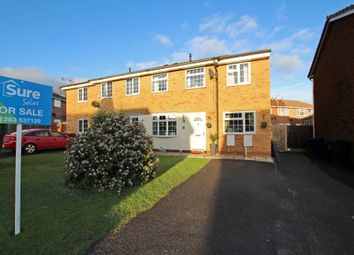 Thumbnail 3 bed semi-detached house for sale in Conway Close, Stretton, Burton-On-Trent