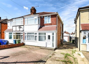 Thumbnail 3 bed semi-detached house for sale in Morley Crescent West, Stanmore, Middlesex