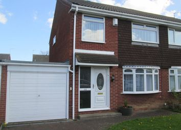 Thumbnail 3 bed semi-detached house to rent in Hersham Close, Kingston Park, Newcastle Upon Tyne