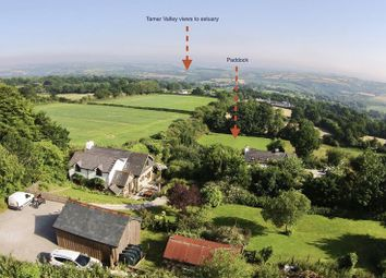 Thumbnail 4 bed detached house for sale in Harrowbarrow, Cornwall