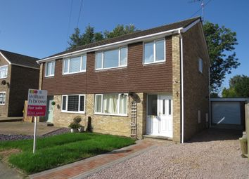 Thumbnail 3 bedroom semi-detached house for sale in Manor Road, Stilton, Peterborough