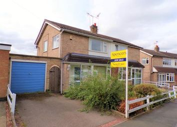 Thumbnail 3 bed semi-detached house for sale in Malvern Crescent, Cosby, Leicester, Leicestershire