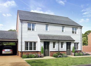 "Thumbnail 3 bed semi-detached house for sale in ""The Hanbury"" at Rattle Road, Stone Cross, Pevensey"