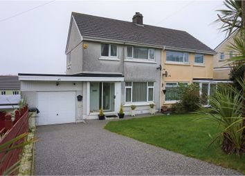 Thumbnail 3 bed semi-detached house for sale in Carrick Road, Falmouth
