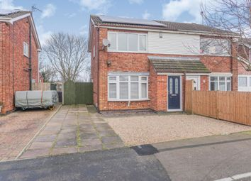 Thumbnail 3 bed semi-detached house for sale in Grantham Avenue, Broughton Astley, Leicester