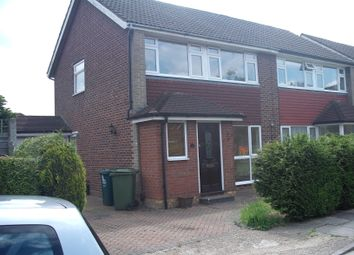 Thumbnail 3 bed semi-detached house to rent in Haslett Road, Shepperton