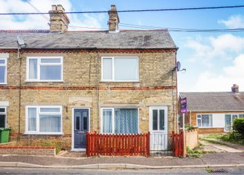 Thumbnail 3 bedroom end terrace house for sale in Croft Road, Upwell, Wisbech