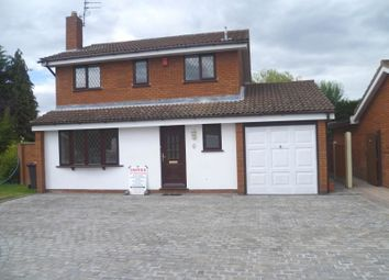 Thumbnail 4 bed detached house to rent in Hawksmoor Drive, Perton, Wolverhampton