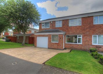 Thumbnail 4 bed semi-detached house for sale in Abbotside Close, Ouston, Chester Le Street
