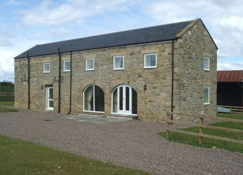 Thumbnail 3 bed barn conversion to rent in Mitford, Morpeth