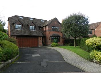 Thumbnail 6 bed detached house to rent in Langden Close, Culcheth, Warrington
