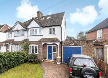 Thumbnail 4 bed semi-detached house for sale in Couchmore Avenue, Esher