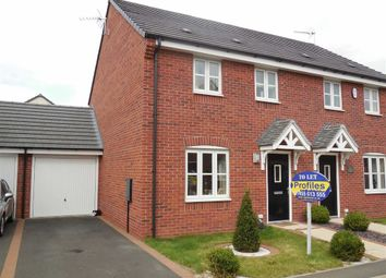Thumbnail 3 bed semi-detached house to rent in Thruxton Close, Hinckley