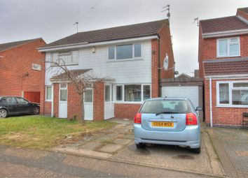 Thumbnail 2 bedroom semi-detached house for sale in Archer Close, Leicester