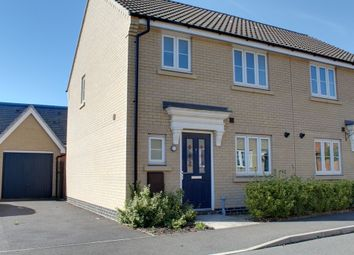Thumbnail 3 bed semi-detached house for sale in Badger Road, Costessey