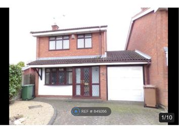 Thumbnail 3 bed detached house to rent in Kestrel Grove, Willenhall