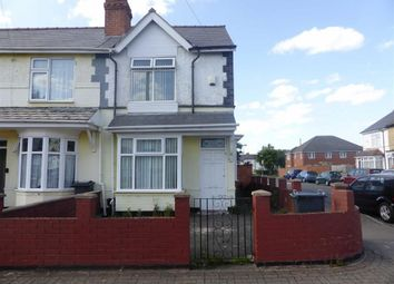 Thumbnail 3 bedroom end terrace house for sale in Morley Road, Washwood Heath, Birmingham