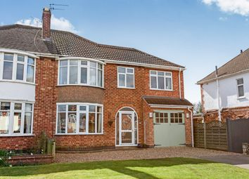 Thumbnail 4 bed semi-detached house for sale in Mere Road, Wigston, Leicester