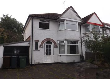 Thumbnail 3 bed property to rent in Stanway Road, Shirley, Solihull