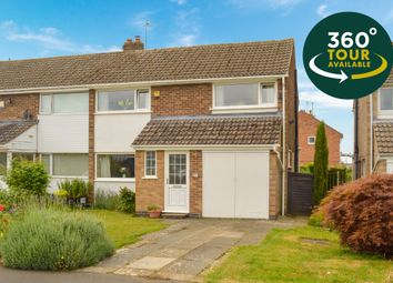 Thumbnail 3 bed semi-detached house for sale in Riston Close, Oadby, Leicester