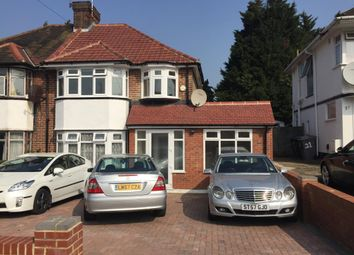 Thumbnail 5 bed semi-detached house to rent in Wykeham Hill, Wembley