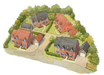 Thumbnail 4 bedroom detached house for sale in The Poplars, Carvers Lane, Attleborough