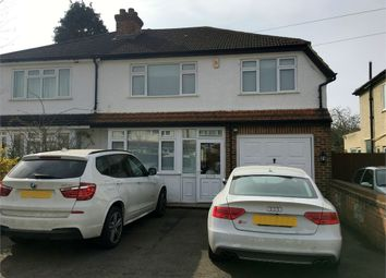 Thumbnail 4 bed semi-detached house for sale in Worthfield Close, West Ewell, Epsom