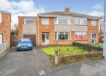 Thumbnail 4 bed semi-detached house for sale in Birch Grove, Whitby, Ellesmere Port