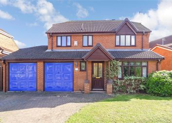 Thumbnail 4 bed detached house for sale in Cromford Way, Broughton Astley, Leicester, Leicestershire