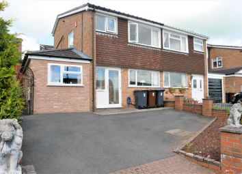 Thumbnail 3 bed semi-detached house for sale in Lorien Close, Leek, Staffordshire