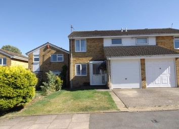 Thumbnail 3 bedroom semi-detached house for sale in Waddesdon Close, Luton, Bedfordshire
