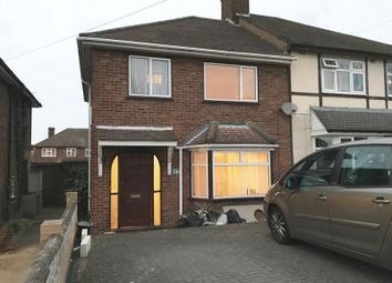 Thumbnail 3 bed semi-detached house to rent in Kingshill Avenue, Collier Row, Romford