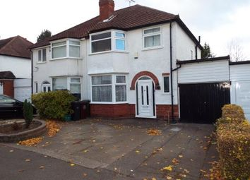 Thumbnail 3 bedroom semi-detached house for sale in Stanway Road, Shirley, Solihull, West Midlands