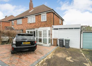 Thumbnail 3 bed semi-detached house to rent in Hill Rise, Sundon Park, Luton