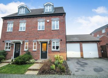 Thumbnail 3 bed semi-detached house for sale in Corinthian Close, Hucknall, Nottingham